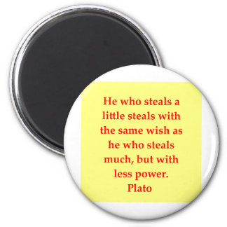 A great Plato quote Magnet