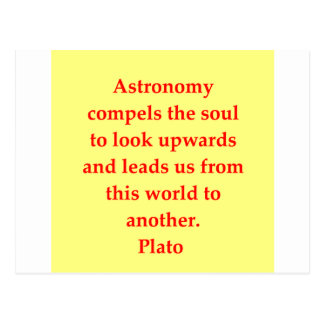 A great Plato quote Post Card
