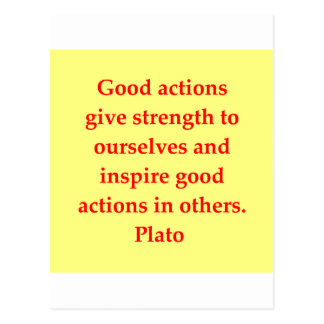A great Plato quote Postcard