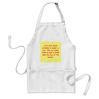 a great sufi saying apron