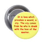 a great sufi saying pinback buttons