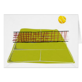 A great Tennis Court Design. What fun Card