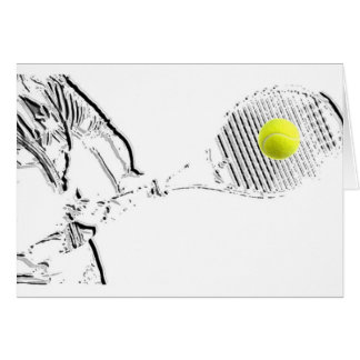 A great Tennis Lover Design Greeting Card