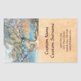 A Great Tree Joseph Mallord William Turner art Rectangular Sticker