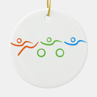 A great Triathlon gift for your friend or family Ceramic Ornament