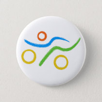 A great Triathlon gift for your friend or family Pinback Button
