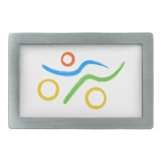 A great Triathlon gift for your friend or family Rectangular Belt Buckle