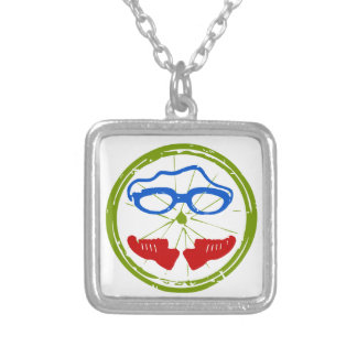 A great Triathlon gift for your friend or family Silver Plated Necklace