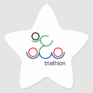 A great Triathlon gift for your friend or family Star Sticker