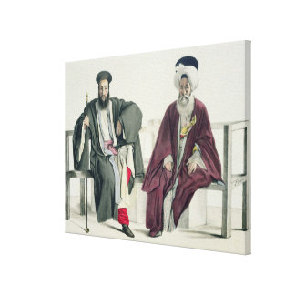 A Greek Priest and a Turk, engraved by the Thierry Canvas Print