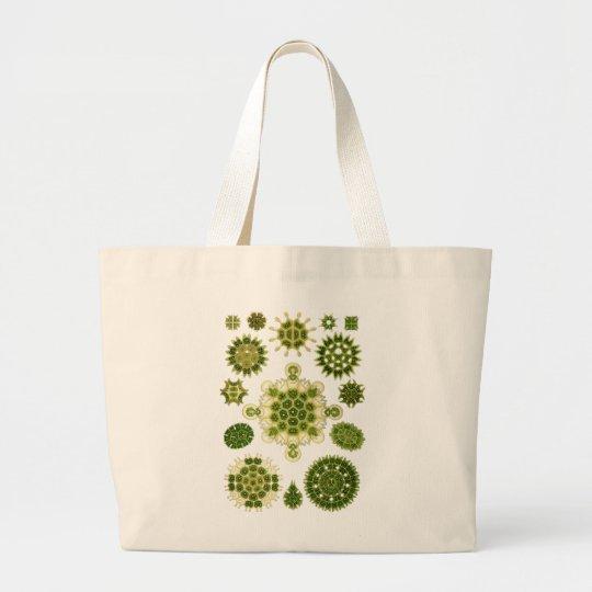 A Green Algae Large Tote Bag