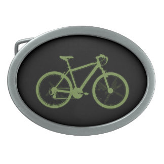 a green bicycle belt buckle