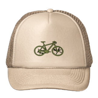 a green bicycle mesh hat