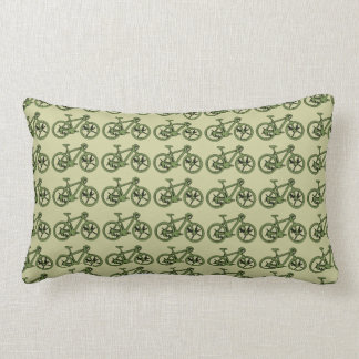 a green bicycle pillow