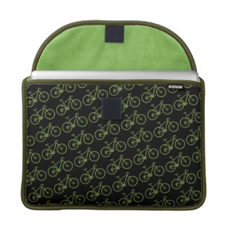 a green bicycle sleeve for MacBook pro