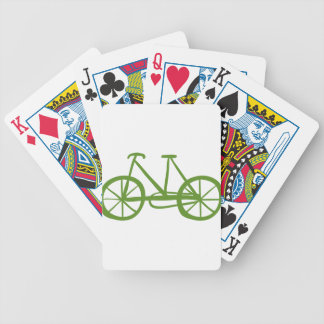 A green bike bicycle playing cards