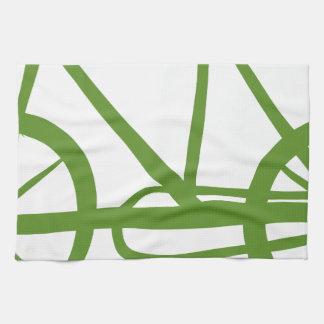 A green bike towels