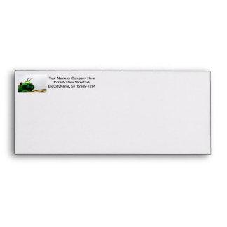 A green caterpillar goofy fair ride image envelope
