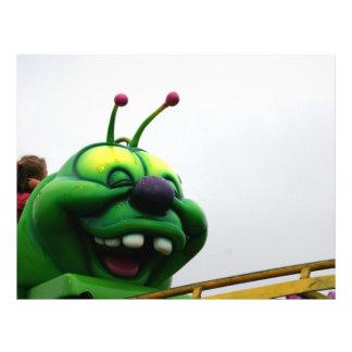 A green caterpillar goofy fair ride image flyer