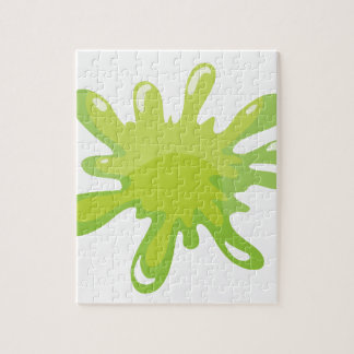 a green color splash jigsaw puzzles