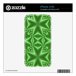 A Green cross pattern Decals For The iPhone 4S