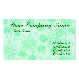 A Green Dandelion Business Cards