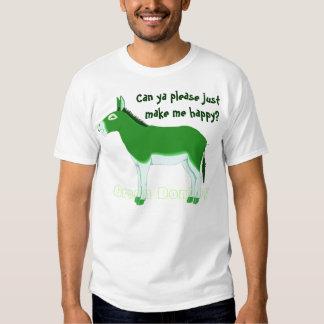 A Green Donkey . . . Hmmm - Customized Shirt