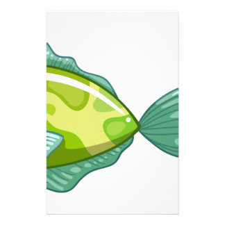 A green fish stationery
