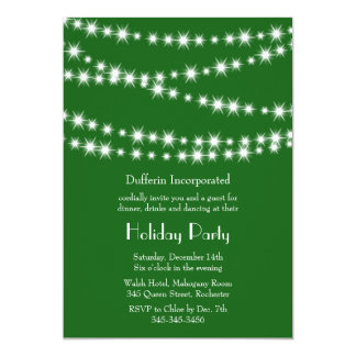 A Green Holiday Twinkle Lights Invitation (corp)