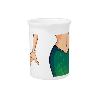 A green mermaid drink pitcher