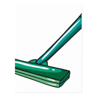 A green mop postcard