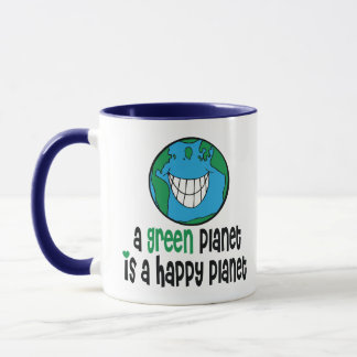 A Green Planet is a Happy Planet Mug