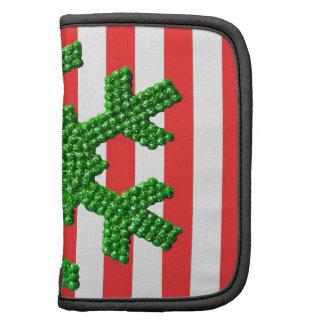A Green Rhinestone Snowflake Ornament Organizers