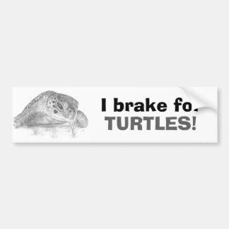 A Green Sea Turtle in Grayscale Bumper Sticker