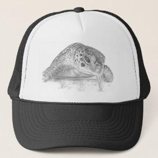 A Green Sea Turtle in Grayscale Trucker Hat