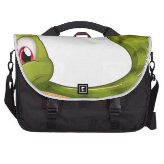 A green snake commuter bags