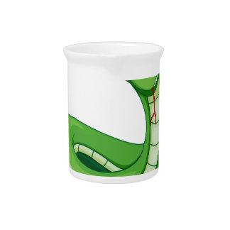 A green snake beverage pitcher