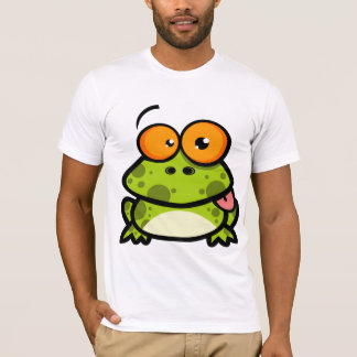 A green spotted frog with orange eyes T-Shirt