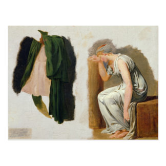 A green toga and Camille Postcard