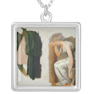 A green toga and Camille Silver Plated Necklace