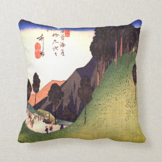A Green Valley with Trees Throw Pillow