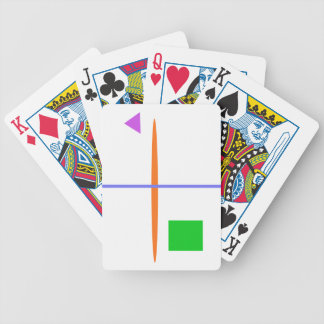 A Green Window Bicycle Playing Cards