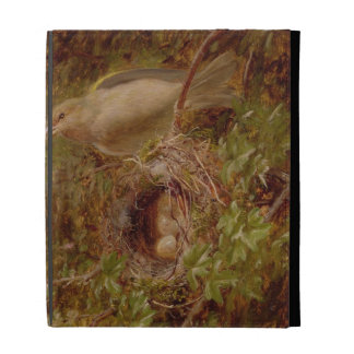 A Greenfinch at its Nest, 1877 (oil on panel) iPad Folio Cases
