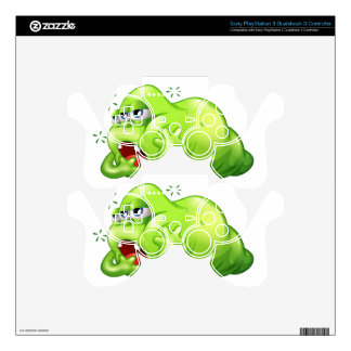 A greenslime monster in boredom skins for PS3 controllers