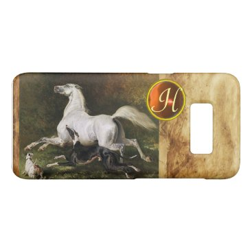 Professional Business A Grey Arab Stallion Galloping With Dogs Monogram Case-Mate Samsung Galaxy S8 Case