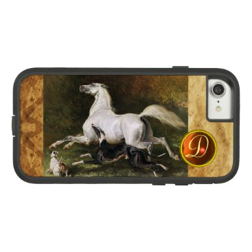 Professional Business A Grey Arab Stallion Galloping With Dogs Monogram Case-Mate Tough Extreme iPhone 8/7 Case