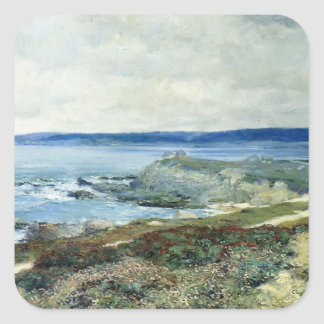 A Grey Day Carmel by Guy Rose Square Sticker