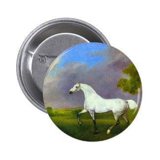 A Grey Horse by George Stubbs Pinback Button