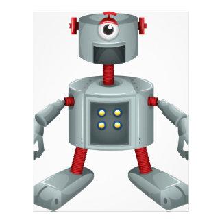 A grey robot letterhead