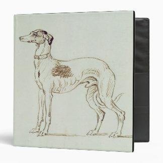 A Greyhound Facing Left pen ink on paper Vinyl Binders